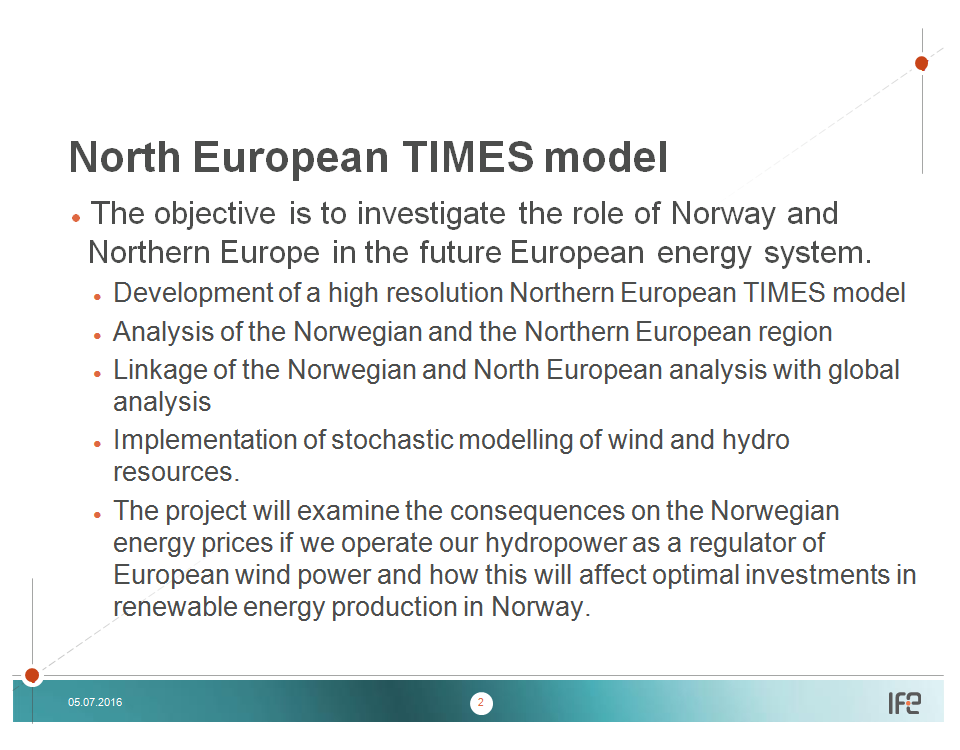 North European TIMES model